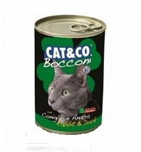 Conserve/hrana umeda pentru pisici Cat&Co Chunks with Rabbit and Duck /Iepure si rata 405g.