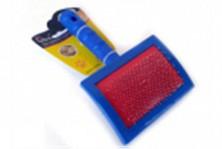 Пуходерка пластмассовая синяя 19,5*11,5см, №4