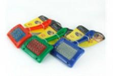 Пуходерка пластмассовая, разные цвета №1