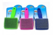 Пуходерка пластик малая 13*6см, разные цвета