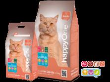 Hrana uscata pentru pisici HappyOne Adulto cu somon/peste