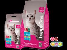Hrana uscata pentru pisici HappyOne cu ton/peste si pui