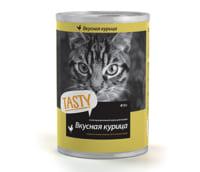 Консервы/влажный корм для кошек Tasty с курицей 415 gr.