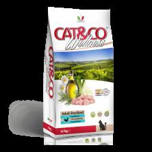Hrana uscata pentru pisici sterilizate Cat&Co Wellness Super Premium Adult Sterilized – Chicken and barley - gaina si orz 10 kg(fara gluten)