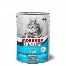 Консервы/влажный корм для кошек/ПАШТЕТ ИЗ РЫБЫ И КРЕВЕТОК MIGLIOR GATTO 405Г