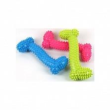 Игрушка резиновая Кость мал пупырчики, 10,5см, разные цвета