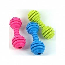 Игрушка резиновая Штанга , 12,5см, разные цвета