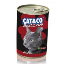 Conserve/hrana umeda pentru pisici Cat&Co Beef cu vita 405 gr.