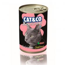Conserve/hrana umeda pentru pisici Cat&Co Samon cu somon/peste 405 gr.