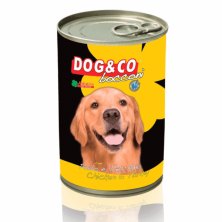 Dog&Co chicken and turkey/conserve cu pui si curcan 1250 gr.
