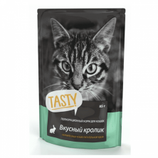 Conserve/hrana umeda pentru pisici Tasty Iepure gustos 85 gr.